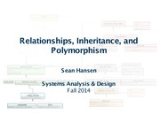 Systems Analysis and Design lecture 29 relating classes and objects