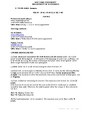 Statistics Fall 2011 Syllabus_Revised September 22nd 2011
