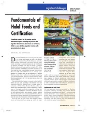 Mian N. RIaz - 2010 - Prepared Foods - Fundamentals of Halal Foods and Certification