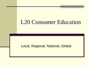L20 Consumer Education