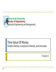 Chapter 1-Time Value of Money