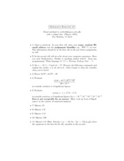 Physics 105A HW #1 MATHEMATICA:C. BRENT