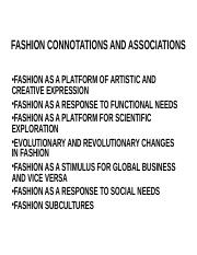 Fashion connotations and Associations.ppt