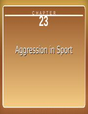 Aggression+in+Sport+Ch+23.ppt