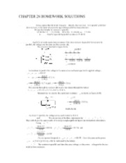HW Solutions CH 26