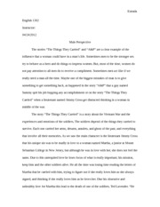 male perspective essay
