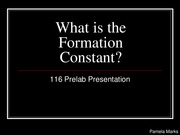What is the Formation Constant_116 Prelab