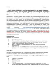 study guide - Exam 1 FALL 2012
