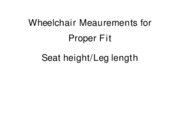 Lab - Wheelchair Meaurements for Proper Fit
