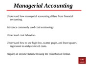 Lecture 15 Introduction to Managerial Accounting