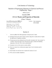Physics and Properties of Materials