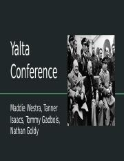 APUSH Chapter 35 - Yalta Conference.pptx