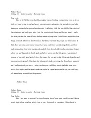 Personal Essay - Letters to Authors