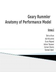 G-2 Anatomy of Perfomance Model by Rummler