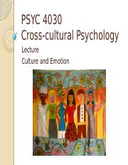 Lecture 9 Cross-cultural Psychology Emotion S16 (1).pptx