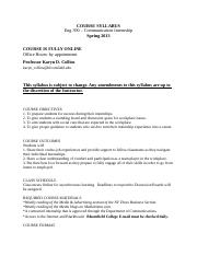 SYLLABUS - Communication Internship Spring 2013.docx