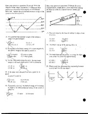 Kinetic and Gravitational Energy Review