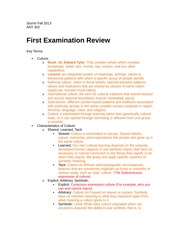 Exam 1 ANT Study Guide