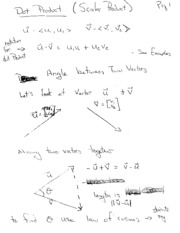 dot and cross product notes