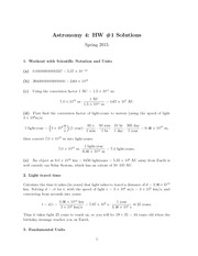 HW#1, Solutions