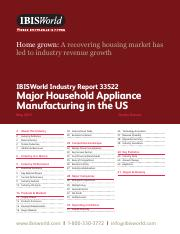 33522 Major Household Appliance Manufacturing in the US Industry Report