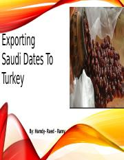 Exporting Saudi Dates To Turkey - Hamdy Mohamed - 961