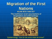 Migration of the First Nations 2010