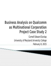 Business Analysis on Qualcomm as Multinational Corporation.pptx