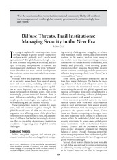 Gill_Diffuse Threats, Frail Institutions_Managing Security in the New Era(1)