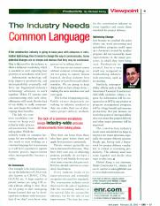ENR- The industry needs a common language