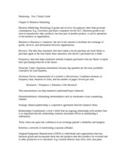 marketing i essay questions