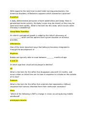 T. Berry Brazelton's Neonatal Behavioral Assessment Scale ...