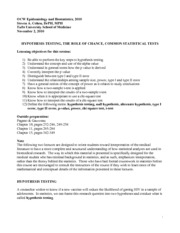 Epidemiology and Biostatistics Lecture Notes  13