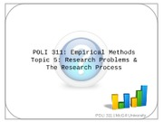 Clicker Topic 5 Research Problems and Process