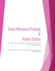 2-02 Social Movement Framing & Movement Tactics