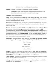 essay2 final draft Engl102 spring 2013 essay 2— annotated bibliography and research proposal u2 annotated bib final draft: 15% of total class grade u2 research proposal final draft: 5% of total class grade u2 rough draft 1 due: u2 rough draft 2 due: u2 final draft due: assignment: writing a thorough and accurately-cited annotated bibliography.