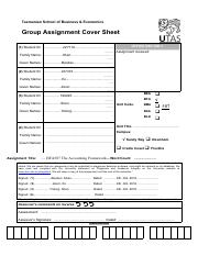 BFA507 MYOB Cover Sheet-Group18