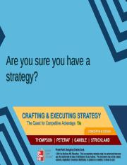 are you sure you have a strategy summary • academy ol management executive, 2001 vol 15, no 4 are you sure you have a strategy donald c hambrick and james w, fredrickson executive overview.