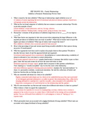 Infidelity Review Sheet