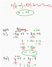 Math 9 Solving Equation Homework Solutions