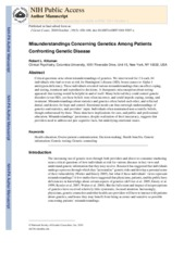 Misunderstandings Concerning Genetics among Patients Confronting Genetic Disease_2010.pdf