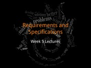 Requirements and Specifications (C01)