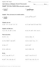 6.4 Add, Subtract, Multiply Polynomials (Practice).pdf - IM1 ...