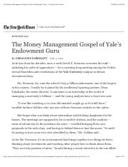 The+Money+Management+Gospel+of+Yale's+Endowment+Guru+-+The+New+York+Times