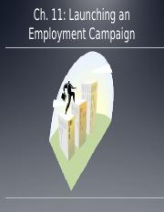 Ch.11 Launching an Employment Campaign