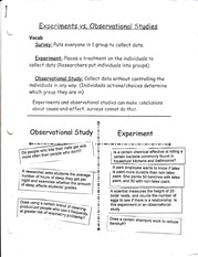 Experiments and Studies notes