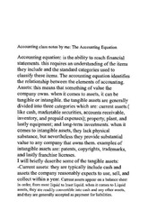 accounting classnote: the accounting equation