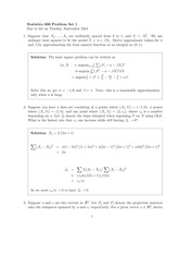 Stat 600 Least Squares Homework Solutions
