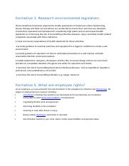 Formative 3. Research environmental legislation and formative 5.docx