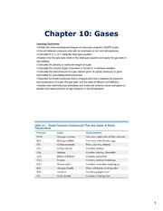 Study Guide on Gases